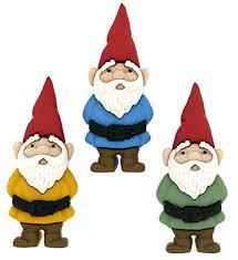 dress it up garden gnomes on plastic multi colour 39 x 16 mm 3 piece amazon co uk kitchen home