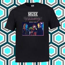 Details About Muse Simulation Theory World Tour Logo Mens Black T Shirt Size S M L Xl 2xl 3xl