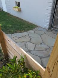 flagstone patio with grass. Flagstone Patio With Grass