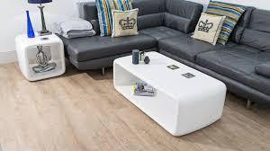md century modern white gloss coffee table