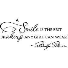 epic designs a smile is the best makeup any can wear marilyn monroe wall art wall saying e
