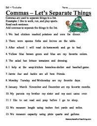 Commas Worksheets Teaching Resources Teachers Pay Teachers