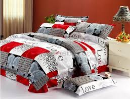 modern style bedroom ideas with plaid grey rose cotton duvet cover regarding brilliant residence red grey bedding sets plan