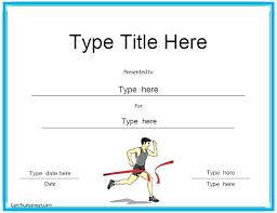 Fun Run Certificate Template Gymnastics Certificate Template Theflawedqueen Com