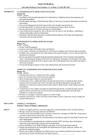 Administrative Manager Resume Administrative Operations Manager Resume Samples Velvet Jobs 14