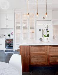 Kitchen Cabinet Display A Trendy Meets Traditional Family Home House Tours Glasses And
