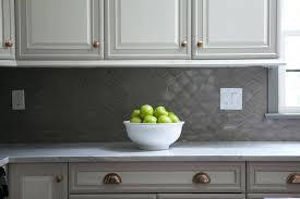 gray kitchen backsplash tile white raised panel kitchen cabinets with gray geometric tile gray subway tile