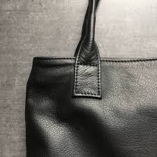 black leather tote bag handmade leather goods from luxembourg vank design