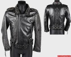 men heavy studded leather jacket 808yyy2 zoom helmet