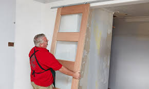 person hanging the sliding doors