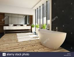 Sehr Geräumige Luxuriöse Badezimmer Mit Einer Freistehenden Boot