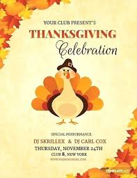 Free Thanksgiving Templates For Word Free Thanksgiving Flyer Template Fall Word Holiday Flyers