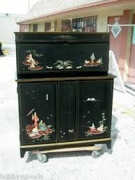 hidden bar furniture. vintage hand painted oriental hide a bar liquor wine cabinet hidden furniture i