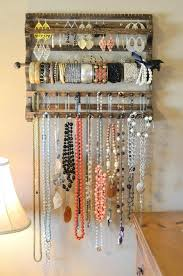 hanging necklace storage best hanging jewelry organizer ideas on jewelry  storage ideas jewelry storage wall necklace