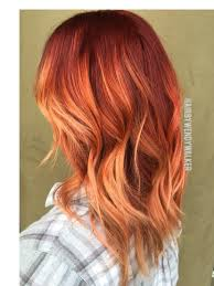 ideas burnt orange: red rose gold balayage wendy walker  fall hair color trends balayage