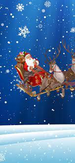 Christmas, Santa Claus, snowflakes ...