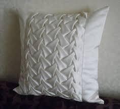 Decorative Satin <b>Smock</b> White Cushion Cover White Throw Pillow ...