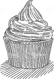 cupcake drawing black and white. Wonderful White Cupcake Drawing Royaltyfree Cupcake Drawing Stock Vector Art U0026amp More  Images Of Black And Black White E