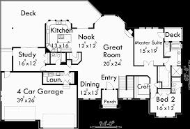 4 car garage house plans. Main Floor Plan For 10054 Sprawling Ranch House Plans, Daylight Basement, Great Room 4 Car Garage Plans 0