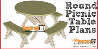round picnic table plans includes free pdf material list and step
