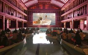 life of pi paris premiere audience in lifeboats in a swimming life of pi paris premiere audience in lifeboats in a swimming pool films movie and ang lee
