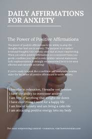 Positive Daily Affirmations For Anxiety ...