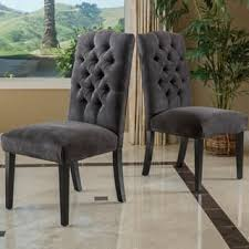 cloth dining chairs. Christopher Knight Home Crown Top Dark Grey Fabric Dining Chair (Set Of 2) Cloth Chairs