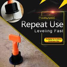 uk 50pcs reusable tile leveling positioning system leverler t lock floor tools for