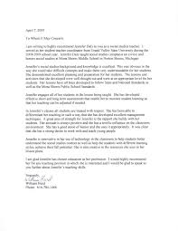 Student Teacher Recommendation Letter Examples Letter Of