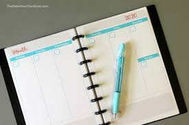 Daily Planners 2015 2020 2020 Free Printable Planner Pages The Make Your Own Zone