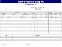 Production Reporting Templates Daily Production Report Template Sample Bakery Pinterest