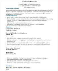 construction electrician electrician resume template electrician resume cover letter