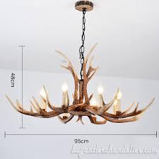 new deer antler chandelier 8 candle style hanging ceiling lights rustic home decor lighting fixture