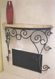 stone hall table. Wall Mounted Hall Table On Iron Stone