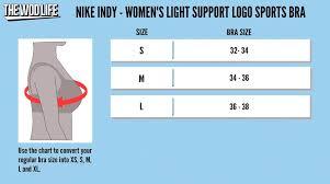 Nike Dri Fit Sports Bra Size Chart Sport1stfuture Org