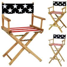 american flag cotton duck canvas seat cover solid wood 18 24 30h director chair