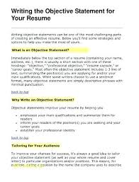 Should You Have An Objective On A Resume Should Resume Have Objective Blaisewashere Com