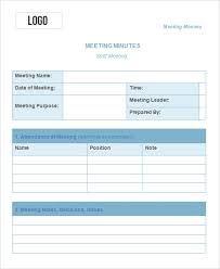 Meeting Minutes Template Free 13 Meeting Minute Templates Free Sample Example Format
