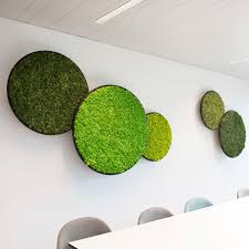 Greenmood Design Wall Mounted Acoustic Panel Preserved Moss Preserved