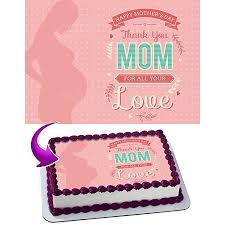 Mother Day Cake Topper Personalized Birthday 14 Sheet Decoration