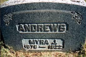 Myra Juliette Donnell Andrews (1878-1922) - Find A Grave Memorial