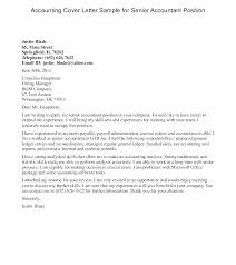 Accounting Cover Letter Cool Cover Letter For Senior Accountant Position Accountant Cover Letter