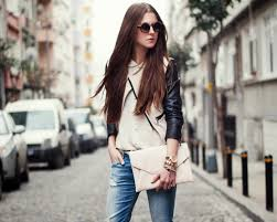 casual business attire woman with long brown hair white and black cropped leather jacket dress code business casual 2017 s fashion hits 110 inspiring