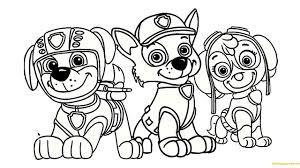Marshall And Zuma Coloring Page Skye Paw Patrol Tesouroliterariocom