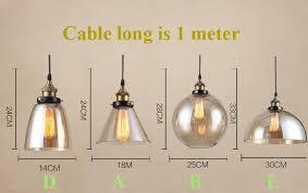 edison pendant lighting. Modern Glass Pendant Lights Industrial Edison Lamp Bar Restaurant Light Transparent/amber Retro Lamparas Colgantes Lighting E