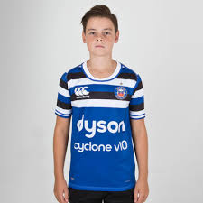 canterbury bath 2018 19 home kids s s pro rugby shirt