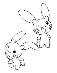 Plusle And Minun Coloring Pages Color Bros