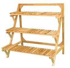 3 tier wooden plant stand 3 tier plant stand tiered outdoor indoor plant stand eucalyptus wood