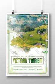 Vietnamese Country Vacation Poster Template Psd Free