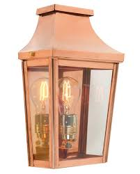 norlys chelsea small flush 1 light copper outdoor wall lantern